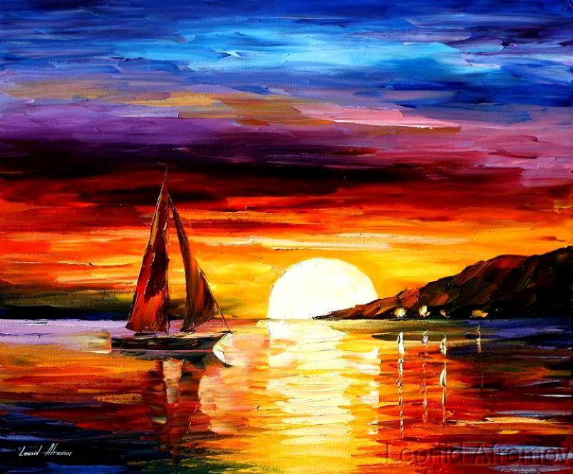 Пейзаж, море, закат